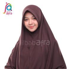 Amira 08 Coklat Tua - Bergo Antem Jilbab Afra