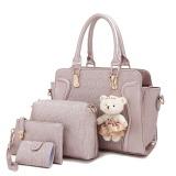 Promo Amour Fashion Bag Best Seller Tas Import Wanita 4 In 1 1706 Gold