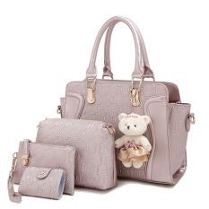 Review Amour Fashion Bag Best Seller Tas Import Wanita 4 In 1 1706 Gold Di North Sumatra