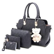 Dimana Beli Amour Fashion Bag Best Seller Tas Import Wanita 4 In 1 1706 Hitam Amour