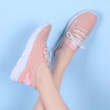 Beli Amp Kasual Perempuan Bernapas Sepatu Flat Baru Olahraga Sepatu Merah Muda Cicil