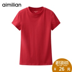 Amy love half Turtleneck Tunic Shirt female thin summer 2017 new women's Korean female short sleeved T-shirt
