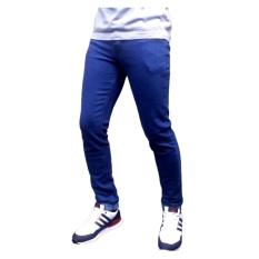 AN Celana jeans skinny / slimfit / pensil pria [blue / biowosh]