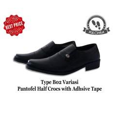 Promo Toko Anabelle Sepatu Pria Pantofel Pulchra Type B02 Variasi Pantofel Half Croc With Adhesive Tape Sepatu Pantopel Sepatu Laki Laki