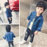 Kualitas Sayang Kecil Anak Laki Laki Kardigan Jeket Jeans Biru Other
