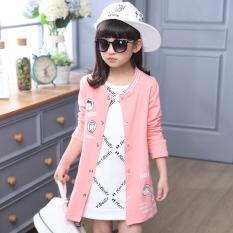 Harga Cardigan Anak Musim Semi Dan Musim Panas Jaket Angin Korea Fashion Style Katun Merah Muda Yang Bagus