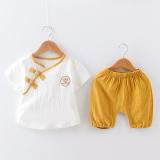 Harga 1 Set Setelan Baju Dan Celana Anak 1 4 Tahun Bahan Katun Bambu Xia Quiet Lengan Pendek Kuning Xia Quiet Lengan Pendek Kuning Satu Set