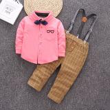 Beli Setelan Anak Laki Laki Baju Atasan Lengan Panjang Katun Murni Dan Celana Satu Set Dua Helai Merah Lengkap