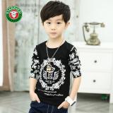 Review Anak Laki Laki Lengan Panjang Leher Bulat Anak T Shirt Baru T Shirt Hitam Di Tiongkok