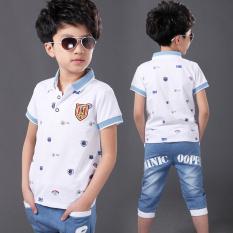 Beli Kaos Oblong Anak Laki Laki Usia Sekolah Lengan Pendek Kerah Polo 6502 Putih 6502 Putih Kredit
