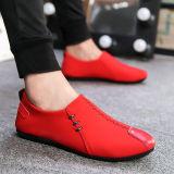 Beli Anak Mudah Dipakai Sepatu Kulit Kacang Sepatu Trendi Merah Model Fashion Di Tiongkok