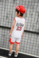 Anak Laki Laki Musim Panas Untuk Anak Anak Di Bawah Usia Pakaian Basket Putih Original