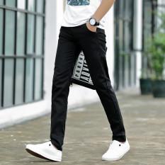 Anak Laki-laki Remaja Celana Slim Kaki Celana Pria (Hitam 919 Model) celana pria celana panjang pria Celana chino Celana cargo