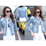 Spesifikasi Anami Fashion Jaket Jeans Vita Ripped Light Blue Yang Bagus Dan Murah