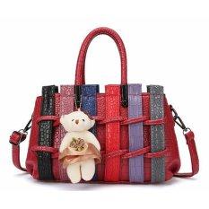 Jual Vicria Tas Branded Wanita Korean High Quality Fence Bag Style Merah Termurah
