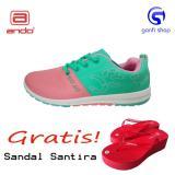 Harga Ando Ct 03 Sepatu Olahraga Sepatu Lari Wanita Warna Hijau Tosca Pink Baru