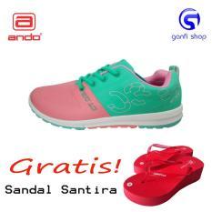 Promo Ando Ct 03 Sepatu Olahraga Sepatu Lari Wanita Warna Hijau Tosca Pink Indonesia