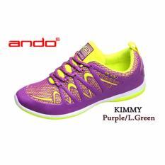 Beli Ando Kimmy Sepatu Olahraga Sepatu Lari Warna Ungu Lime Ando Asli