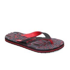 Ando Sandal jepit DYLAN Hitam/Merah size 38 - 42