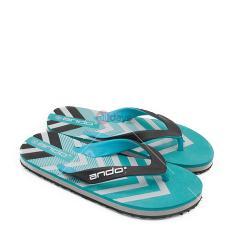 Miliki Segera Ando Sandal Jepit Flip Flop Pria Grafitty 03 Hitam Tosca Size 38 42
