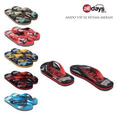 Katalog Ando Sandal Jepit Flip Flop Pria Vip 02 Black Red Size 38 42 Terbaru