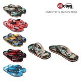 Toko Ando Sandal Jepit Flip Flop Pria Vip 02 Brown Beige Size 38 42 Online