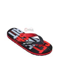 Review Ando Sandal Jepit Pria Grafitty 02 Black Red Size 38 42 Terbaru