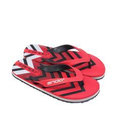 Ando Sandal Jepit Pria Grafitty 03 Red/Black size 38 - 42