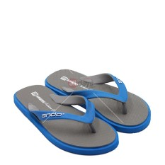 Ando Sandal Jepit Pria New Hawaii Fashion - Grey/Blue