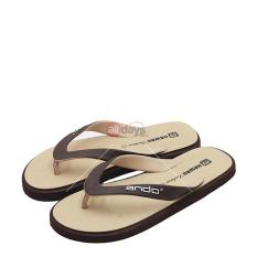 Ando Sandal Jepit Pria New Hawaii Fashion - Sand/Brown