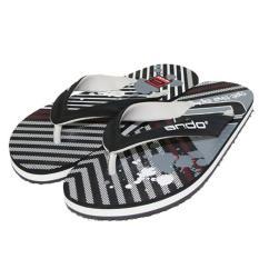 Spesifikasi Ando Sandal Jepit Super 08 Men Black White Bagus