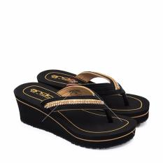 Ando Sandal Jepit Wanita Casual New Hollywood - Gold Size 36-40