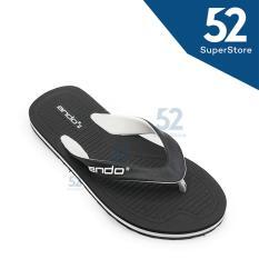 Ando Sandal Jepit/Flip Flop Pria Hawaii Master 02 - Black/White Size 38/42
