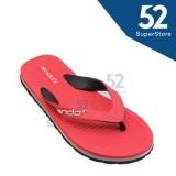 Harga Ando Sandal Jepit Flip Flop Pria Hawaii Master 02 Red Black Size 38 42 Termurah