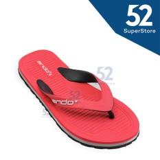 Miliki Segera Ando Sandal Jepit Flip Flop Pria Hawaii Master 02 Red Black Size 38 42