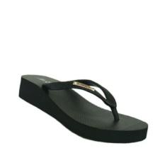 Ando sandal karet hak wanita nice queen hitam 36-40