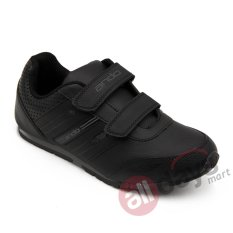 Harga Ando Sepatu Anak Laki Laki Sneaker Diva Light Velcro Black Paling Murah