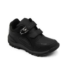 Ando Sepatu Sekolah Anak Laki-Laki  Power Lite 02 Velcro (AK) - Hitam