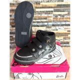 Beli Ando Sepatu Sekolah Anak Perempuan Barbie Boot Flora Hitam 28 30 Kredit
