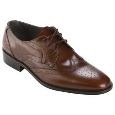 Andretelli Men Oxford Dress Shoes Genuine Leather Cokelat Andretelli Diskon 30