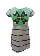 Andri Collection Dress Anak Max Green Knit Terbaru