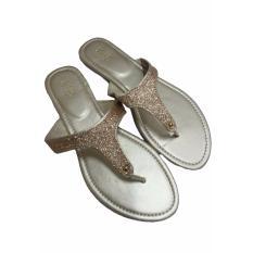 Diskon Produk Andri Collection Sandal Wanita Flat Hilary Sophie Gold