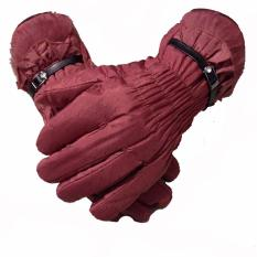 Review Anekaimportdotcom Sarung Tangan Musim Dingin Parasut Wanita Gloves Winter Women Merah Anekaimportdotcom