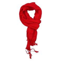 Beli Anekaimportdotcom Syal Musim Dingin Atau Scarf Winter Polos Pashmina Merah Anekaimportdotcom Dengan Harga Terjangkau