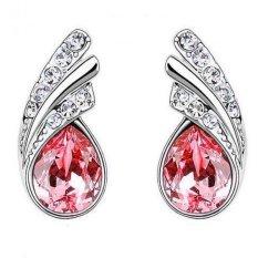 Angel Wings Crystal Earrings 925 Sterling Silver / Anting Wanita - Silver-Red