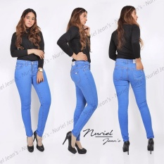 Spek Anggun Jeans Celana Jeans Wanita Premium Quality Ice Blue