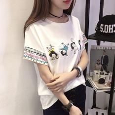 Spesifikasi T Shirt Longgar Wanita Gaya Korea 772 Putih 772 Putih Terbaru