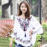 Harga National Style Tassled New Style Spring And Summer Top Versatile Bat Shirt Putih Baju Wanita Baju Atasan Kemeja Wanita Lengkap