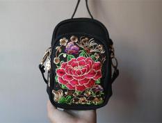 Model baru MIMZF bordir Banyak Kantong praktis tas wanita tas bahu dengan satu tali Selempang tas kecil Layar Besar HP tas santai hadiah