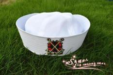 Angkatan Laut Topi Siswa Sekolah Dasar Pembibitan Topi Tentara Dewasa Putih (Ganda Panah Standar)